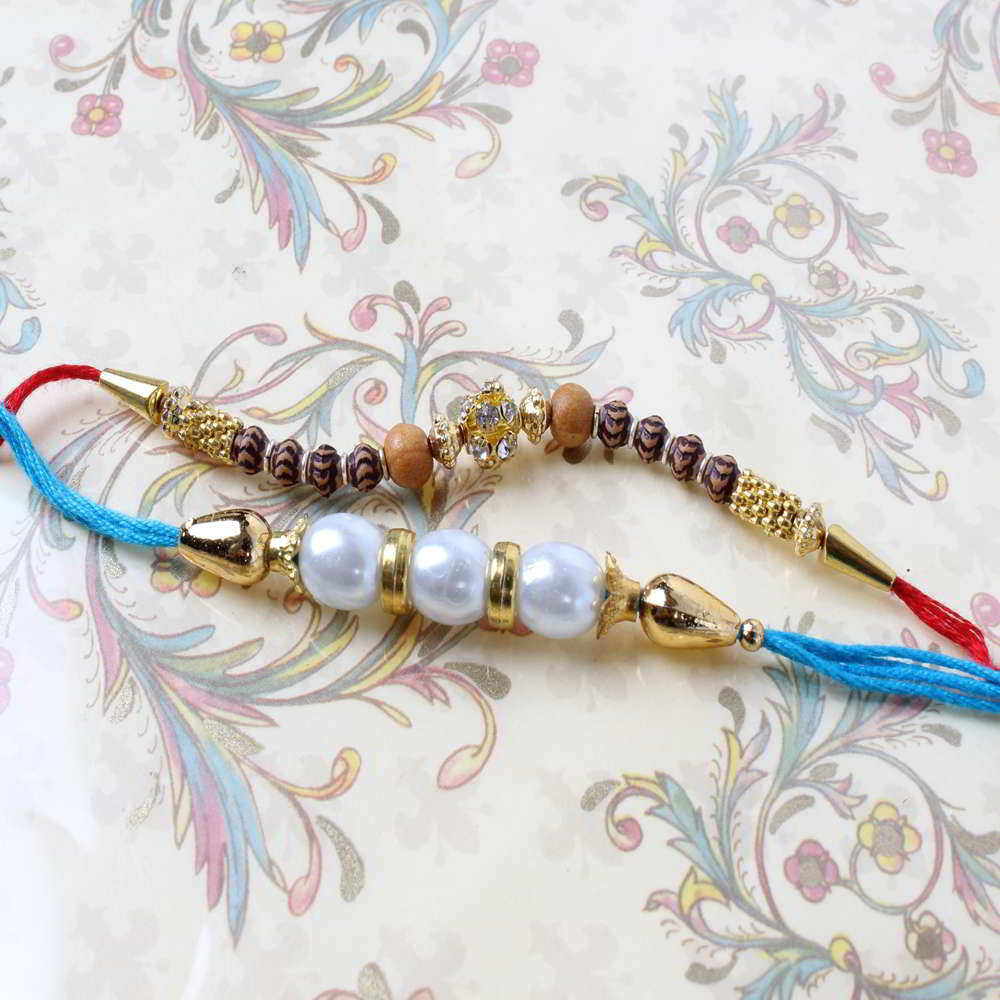 Alluring Beads Pack of Two Rakhi