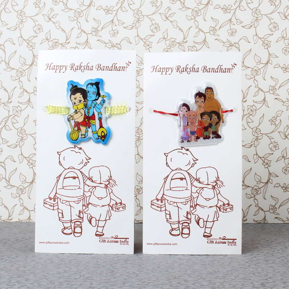 Bal Hanuman Krishna with Bheem Team Rakhi for Kids - UAE