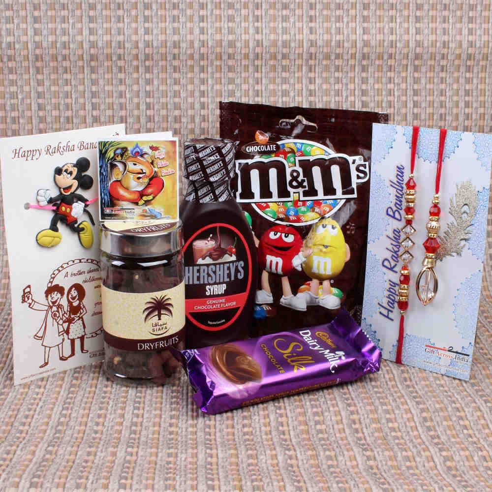 Family Rakhi with Chocolate Hamper Gift