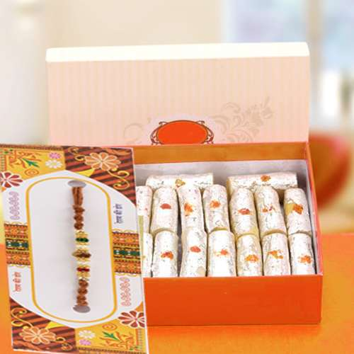 Kaju Roll Sweets with Rakhi Same Day Delivery