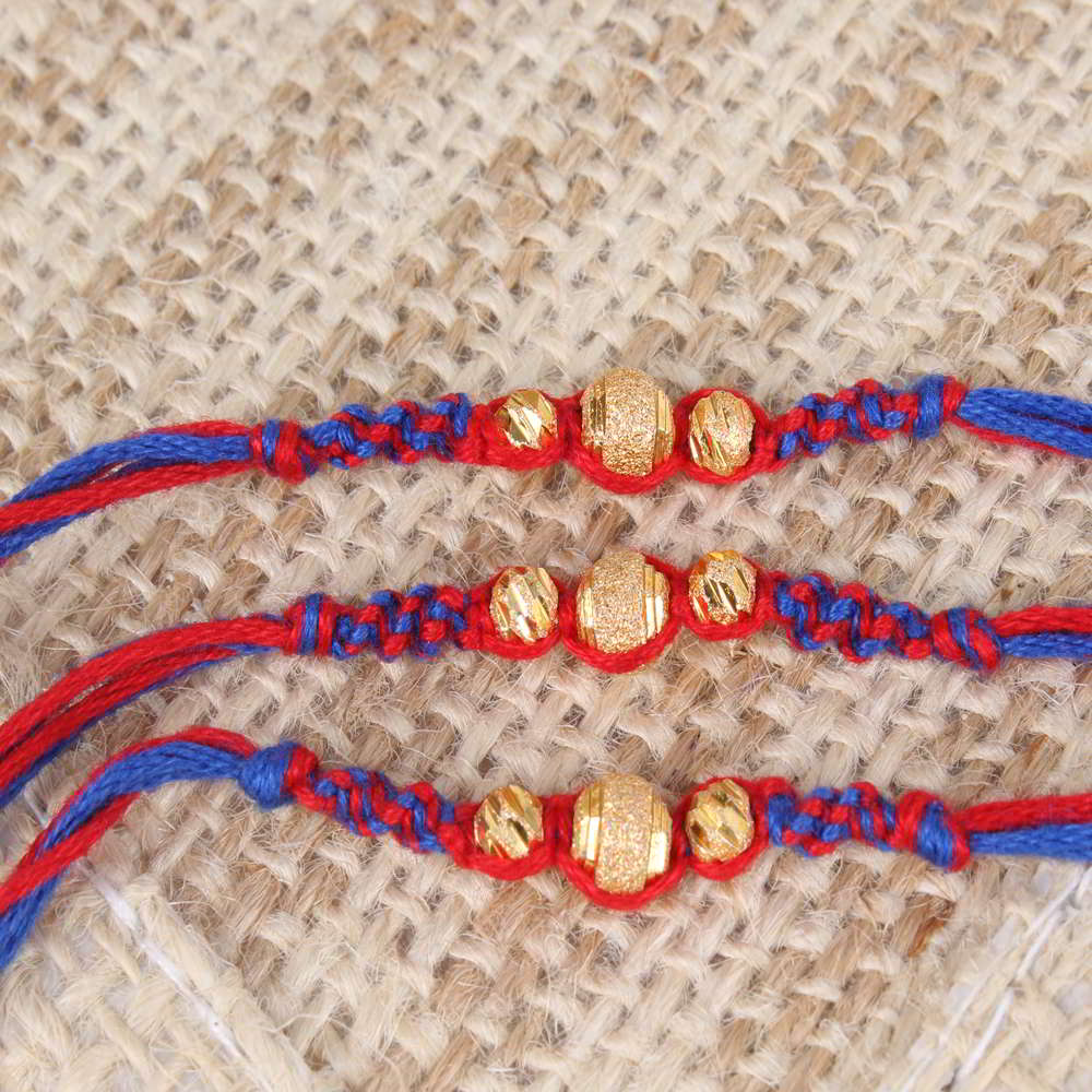 Set of Three Unique Design Rakhis