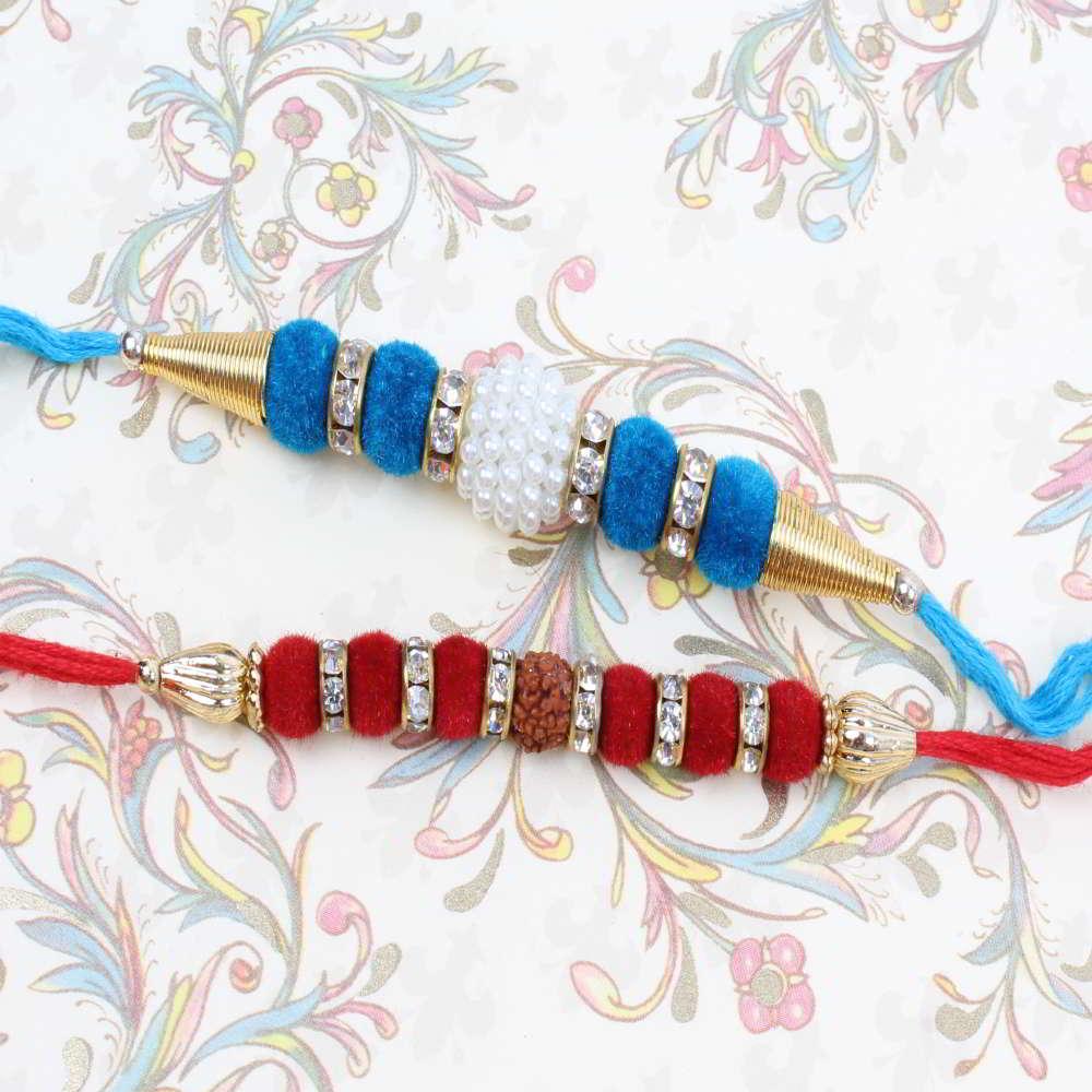 Set of Two Velvet Touch Rakhi