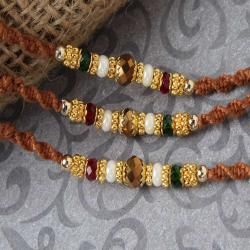 Beautiful Triple Beads Rakhi