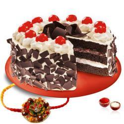 Black Forest Cake and Thread Rakhi