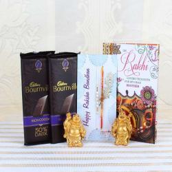 Cadbury Bournville Rich Cocoa 50% Dark Bar with Pair of Rakhis