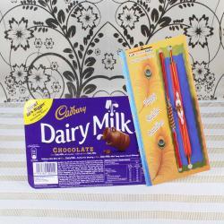 Cadbury Dairy Milk Chocolate with Two Rakhis