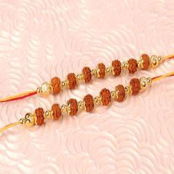 Couple of Rudraksha Beads Rakhi - Canada