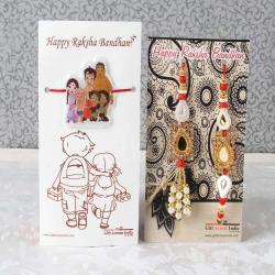 Designer Family Combo of Rakhi - UAE