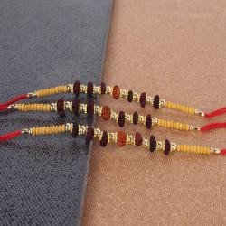 Exclusive Designed Rudraksha Rakhi for Brother