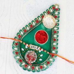 Fancy Rakhi Puja Thali Online