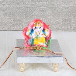 Floral Ganesha Idol with Rakhi - Australia