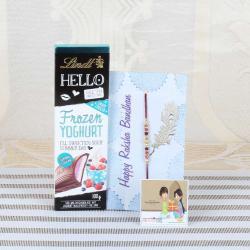 Lindt Hello Chocolate with Designer Beads Rakhi