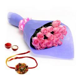 Pink Roses and Rakhi