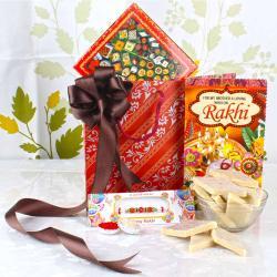 Rakhi Gift of Kaju Sweets with Rakhi Card - UK