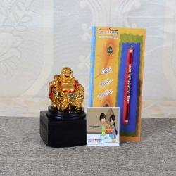 Rakhi Gift of Laughing Buddha for Best Brother