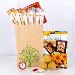 Rakhi Gifts Goodies Bag For Brothers - UK
