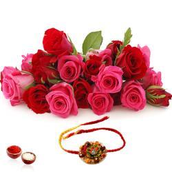 Roses Bouquet with Rakhi