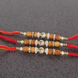 Set of Three Swastika Rakhi