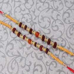 Set of Two Rudraksha Rakhi