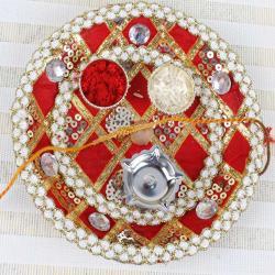Traditional Rakhi Puja Thali Online