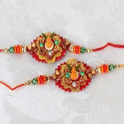 Two Kalash Designer Rakhi
