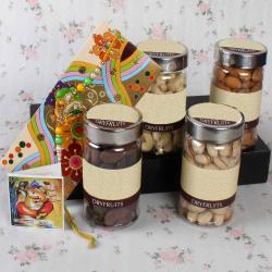 Adorable Rakhi with Assorted Crunchy Dry Fruits