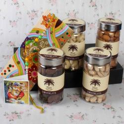 Adorable Rakhi with Siafa Assorted Dry Fruits