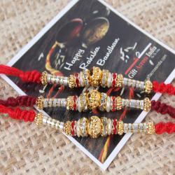Alluring Designer Pack of Three Rakhi Set