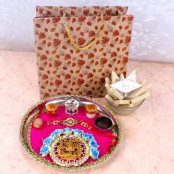 Alluring Rakhi Thali Hamper