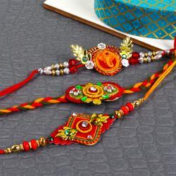 Artistic Rakhi Combo