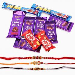 Assorted Cadbury Chocolate with Rakhi