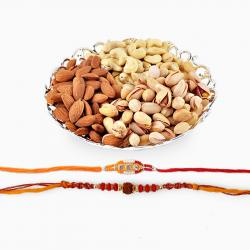 Assorted Dryfruits With Set of two Rakhi