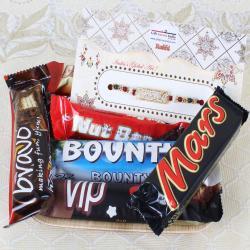Assorted Imported Chocolates with Veera Rakhi