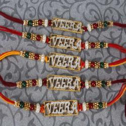 Auspicious Five Veera Rakhi Set