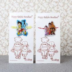 Bal Hanuman Krishna with Bheem Team Rakhi for Kids-Worldwide