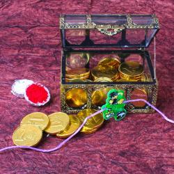 Ben10 Rakhi with Gold Coin Chocolate
