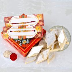 Best Rakhis with Kaju Sweets