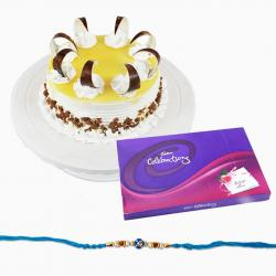Cadbury Celebration Chocolate Pack with Cake and Rakhi