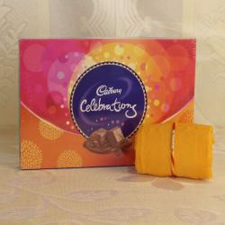 Cadbury Celebration Chocolate Pack with Rakhi