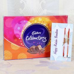 Cadbury Celebration Chocolate Pack with Set of Two Rakhi
