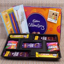 Cadbury Celebration Chocolate with Tiny Beads Rakhi