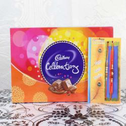 Cadbury Celebrations Chocolate Pack with Pair of Rakhis