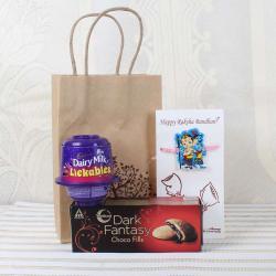 Cadbury Dairy Milk Lickables with Dark Fantasy Choco Fill Pack and Ganesha Krishna Rakhi - Canada