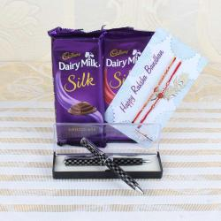 Cadbury Dairy Milk Silk Chocolate Bars with Two Rakhis