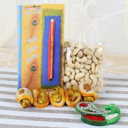 Cashew with Badam Tacos Sweets and Charming Designer Rakhi