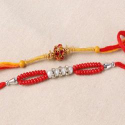 Charming Pack of Two Rakhi