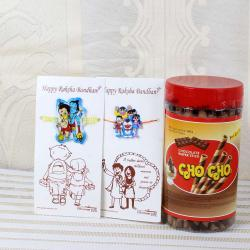 Cho Cho Chocolate Waffer Stick with Kids Rakhis