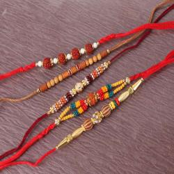 Collection of Five Sphere Rakhi Combo