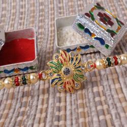 Colorful Designer Beads Rakhi
