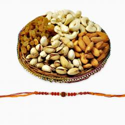 Colorful Rakhi with Assorted Dryfruits